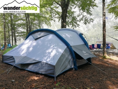 Das Quechua Campingzelt Air Seconds Family 4 XL (Fresh&Black) im Test