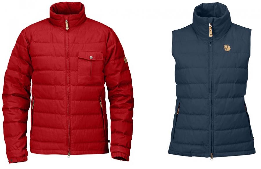 Fjällräven Övik Lite Jacket und Vest eine tolle Daunenjacke