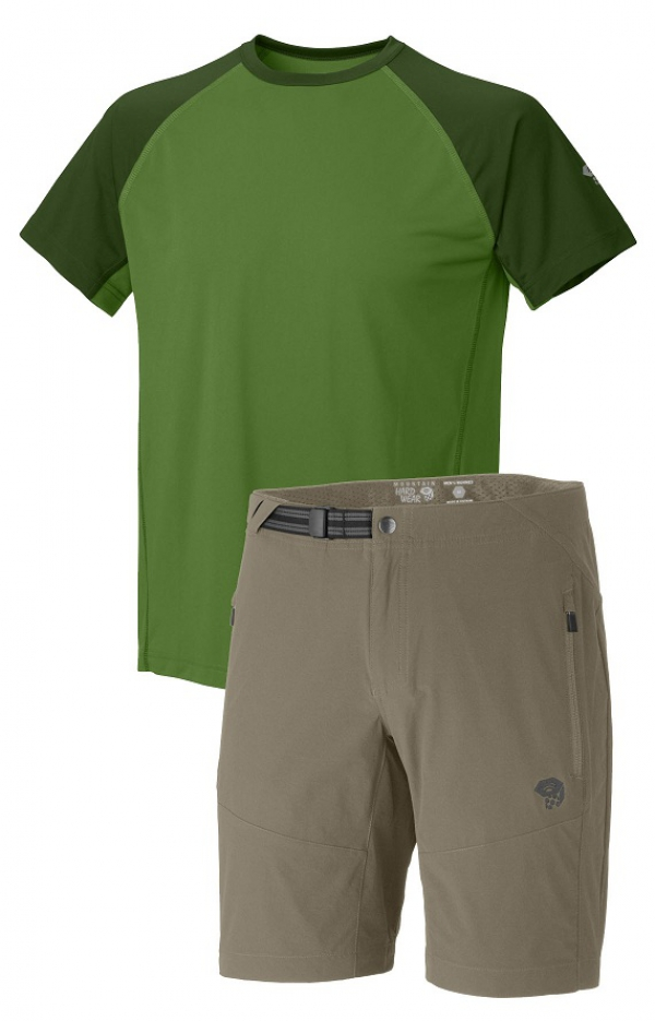 Mountain Hardwear Justo Trek Short Sleeve T und Rifugio Trek Short